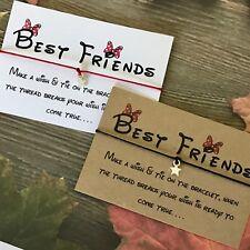 Wish Bracelet Disney Font Charm Card Birthday Best Friends Mum Sister Gift Y60