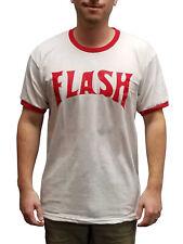 Flash Gordon T-Shirt Movie Costume Lightning Bolt Ted 80s Freddie Mercury Ringer