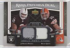 2007 UD Premier Rare Patches Dual #RP2-RQ Brady Quinn JaMarcus Russell Card