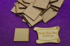 MDF Square 1cm, 1.5cm, 2cm, 3cm, 4cm, 5cm - Laser cut wooden shape