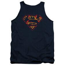 Superman Distressed Logo DC Comics Adult Tank Top