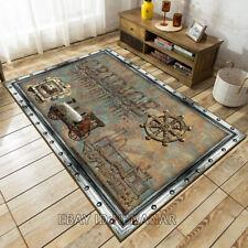 Industrial Style Carpet Floor Art Mat Home Non-slip Area Rugs Rectangle Vintage