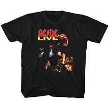 AC/DC Kids T-Shirt Live Album Cover Black Tee