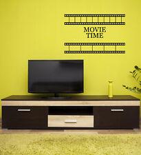 Vinyl Wall Decal Movie Time TV Cinema Theatre Film Strip Stickers Mural (g528)