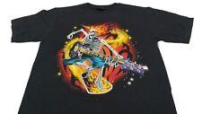 T-shirt manche courte , col rond , coupe homme , 100% coton Guitar Skull