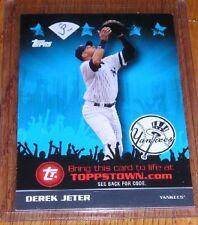 2009 Topps Town ToppsTown.com Derek Jeter TTT29 Yankees