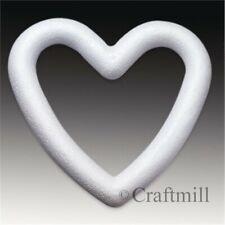 Polystyrene Styrofoam OPEN HEART WREATH SHAPES - CHOOSE SIZE & QUANTITY