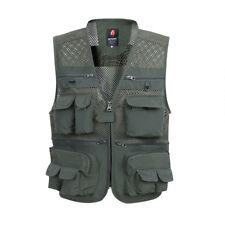 Mens Casual Multi Pockets Vest Travel Fishing Hunting Outdoor Photo Waistcoats