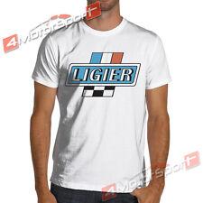 New listing Ligier Calssic Formula 1 White or Gray Racing T-Shirt F1