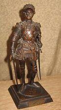 Fine Antique Bronze Sculpture Knight in Armor King Arthur English
