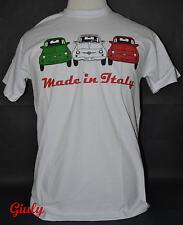 T-shirt 500 Cinquecento ITALIA maglia simpatica tricolore IDEA REGALO maglietta