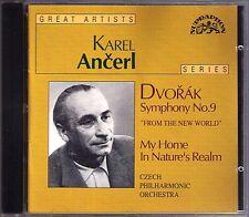 Karel ANCERL: DVORAK Symphony 9 New World My Home n Nature's Realm CD Sinfonie