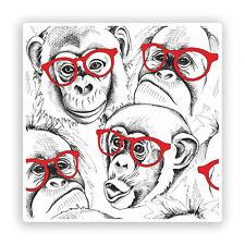 2 x Cool Monkeys Vinyl Stickers Travel Luggage #7598