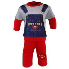CHÁNDAL BEBÉ SUPERMAN ROJO Y GRIS