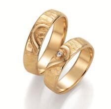 Paar Eheringe Verlobungsringe Partnerring Gelb Weissgold Diamant Herz Symbolring