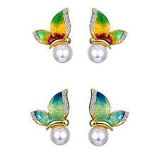 Amazing Butterflies Collection of Earrings Green Blue Gold Studs Pierced Ears