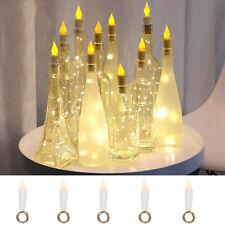 1-12PCS 1M 11 LED Wine Bottle Fairy String Light Cork Starry Night Xmas Wedding