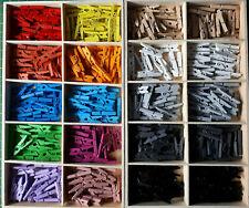 72mm weiß Holz-Wäscheklammern 18 Stück