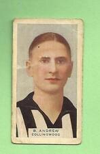 1930 VICTORIAN FOOTBALLERS CARD - HOADLEYS CHOCOLATE #26 B. ANDREWS, COLLINGWOOD