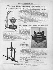 1953 illustration : tyre & wheel changing equipment