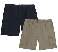 Pierre Roche Mens Pure Cotton Drill Cargo Shorts