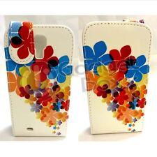 Funda Flor Multicolor Estampado Diseño Libro Cuero De Pu para Samsung Galaxy