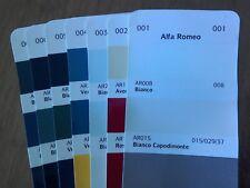 Alfa Romeo Car Colours   Solvent Basecoat Paint  Aerosol or Tin  Choose Colour