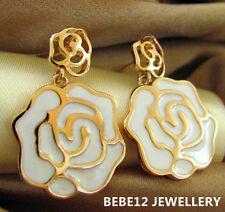 Dangling White Rose Earring/Rose Gold/RGE376