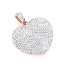 Herz Diamantanhänger mit 2.00 Karat Diamanten aus 585/14K Rosegold gefertigt