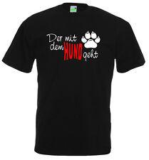 Hunde T-Shirt | Der / Die mit dem Hund geht | Gassimann / Gassifrau   10-880-0-