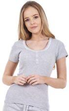 Ladies PJ Top Girls Women Nightwear Pyjamas Short Sleeve Loungewear