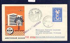 45489) KLM FF Amsterdam - Saigon Vietnam 31.3.59, SC Belgien EF 5F CEPT