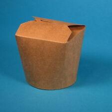500 Bio Snackboxen Foodbox Asia Nudelbox braun natur versch. Größen 16/26/32oz