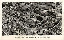 Ludlow. Aerial View of Parish Church.
