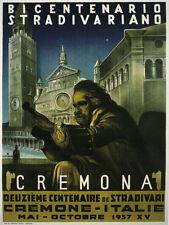 VIOLIN Stradivarius 1937 Cremona 1937 Italy Music Vintage Poster Repo FREE S/H