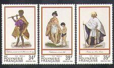 Polinesia Francesa 1984 trajes tradicionales/Ropa/Vestido/personas 3 V Set (n37476)