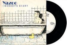 YAZOO disco 45 giri NOBODY'S DIARY State farm MADE IN ITALY