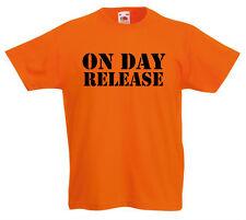 le jour de sortie T-Shirt 3-13 ans enfants garçons Cadeau Fille drôle prison z1