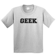 Geek - Vintage Old School Retro Funny College Sports Grey T-Shirt