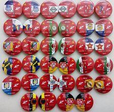 Alle European Cup Match Play-Pins SPARTAK Moskau UdSSR Rusland 1966 - 2016 set 1