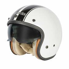 Spada Raze Kromatik Open Face Motorbike Motorcycle Helmet Scooter White Black