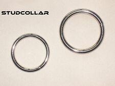 studcollar -doubles - Deux plaqué en Nickel Métal Pénis/amusant anneaux jusqu'à