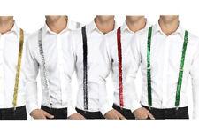 Sequin Braces Showtime Performer Fancy Dress Accessory 6 Colours