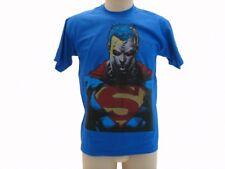 T-shirt Originale Superman busto adulto e bambino Blu mezzo busto ufficiale