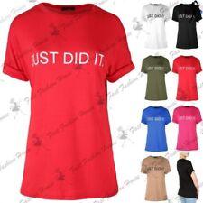 Femmes JUSTE FAIT IT imprimé Manche Revers Surdimensionné / Ample T Shirt Robe