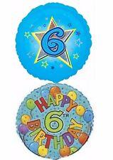 Felice 6th COMPLEANNO PALLONCINI PARTY Ware Decorazione Boy Girl novità regalo Elio