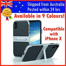 IPhone X Case Carbon Fiber IphoneX KICKSTAND Thin Slim Luxury Back Cover AU