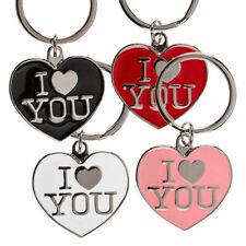 Schlüsselanhänger Herz Ich Liebe dich I LOVE YOU Partner Geschenk aus Metall