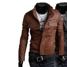 Giacca Giubbotto in Pelle Uomo Men Leather Jacket Veste Blouson Homme Cuir N6f