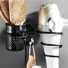 Bathroom Shower Storage Shelf Wall Mounted Hair Dryer Comb Holder Rack Stand